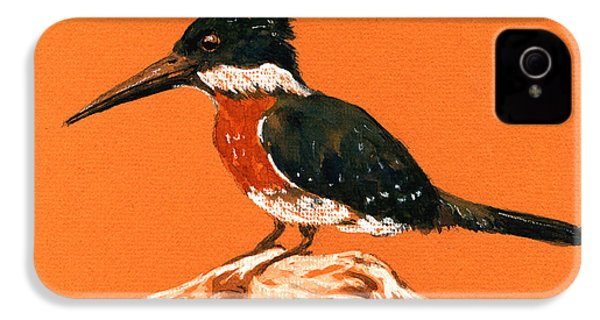Green Kingfisher IPhone 4 / 4s Case by Juan  Bosco