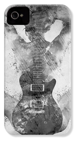 Guitar Siren In Black And White IPhone 4 / 4s Case by Nikki Smith