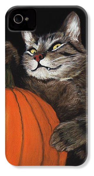 Halloween Cat IPhone 4 / 4s Case by Anastasiya Malakhova
