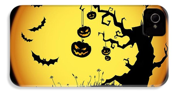 Halloween Haunted Tree IPhone 4 / 4s Case by Gianfranco Weiss