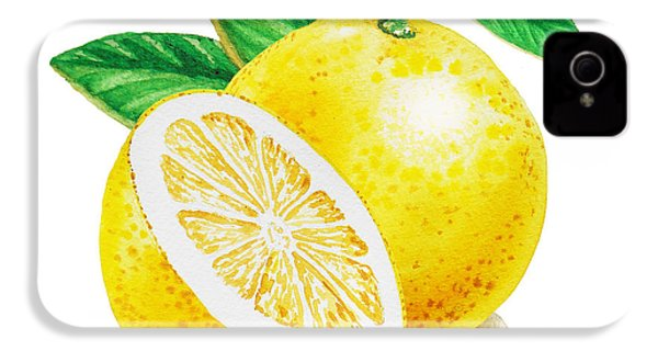 Happy Grapefruit- Irina Sztukowski IPhone 4 / 4s Case by Irina Sztukowski