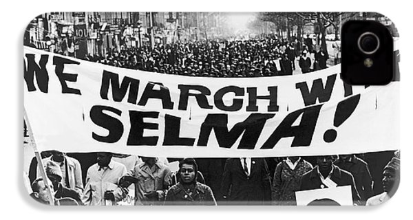 Harlem Supports Selma IPhone 4 / 4s Case by Stanley Wolfson