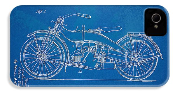 Harley-davidson Motorcycle 1924 Patent Artwork IPhone 4 / 4s Case by Nikki Marie Smith