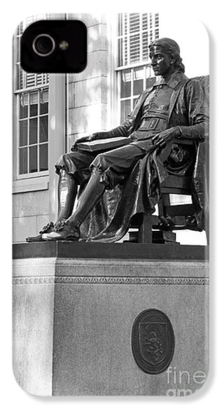 John Harvard Statue At Harvard University IPhone 4 / 4s Case by University Icons