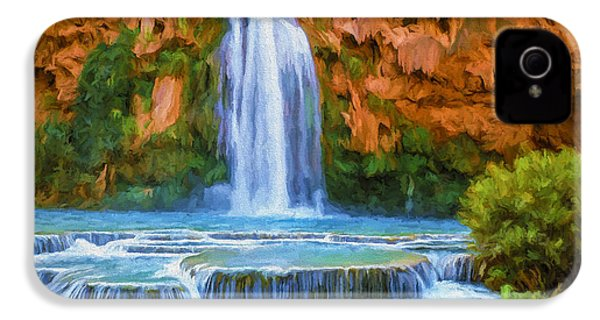 Havasu Falls IPhone 4 / 4s Case by David Wagner