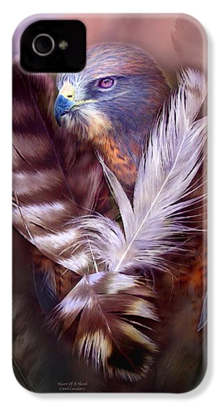 Heart Of A Hawk IPhone 4 / 4s Case by Carol Cavalaris