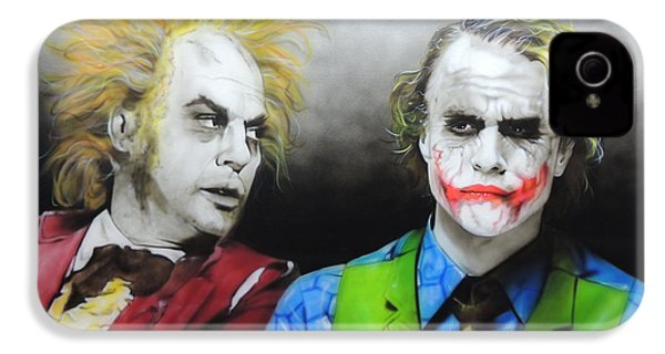 Health Ledger - ' Hey Why So Serious? ' IPhone 4 / 4s Case by Christian Chapman Art