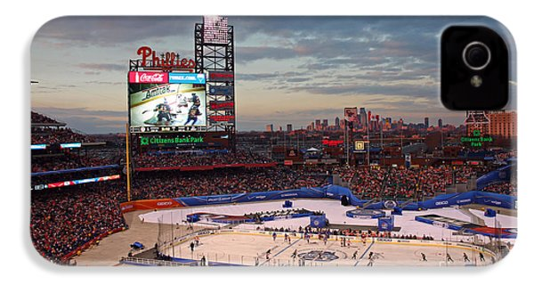Hockey At The Ballpark IPhone 4 / 4s Case by David Rucker