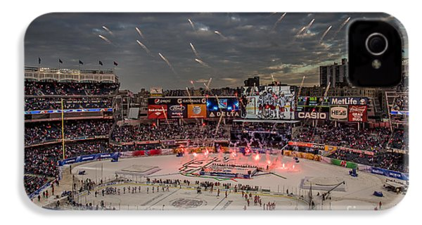 Hockey At Yankee Stadium IPhone 4 / 4s Case by David Rucker