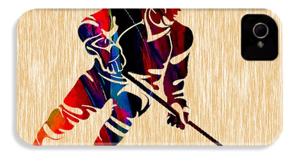 Hockey Player IPhone 4 / 4s Case by Marvin Blaine