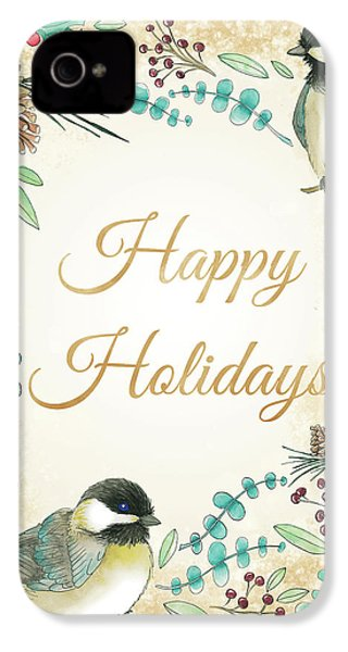 Holiday Wishes II IPhone 4 / 4s Case by Elyse Deneige