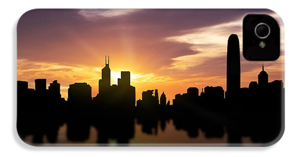 Hong Kong Sunset Skyline  IPhone 4 / 4s Case by Aged Pixel