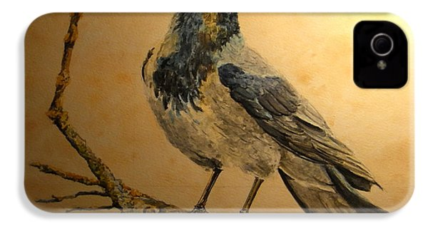 Hooded Crow IPhone 4 / 4s Case by Juan  Bosco