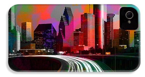 Houston Texas Skyline  IPhone 4 / 4s Case by Marvin Blaine