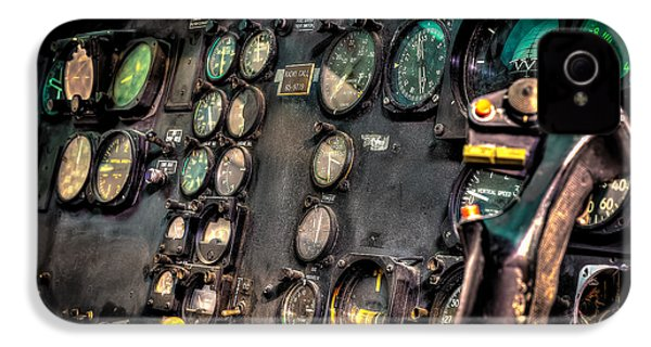 Huey Instrument Panel IPhone 4 / 4s Case by David Morefield