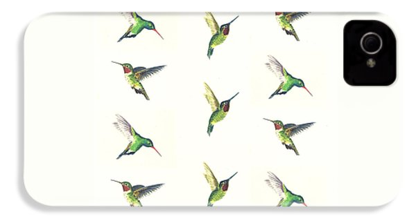 Hummingbirds Number 2 IPhone 4 / 4s Case by Michael Vigliotti