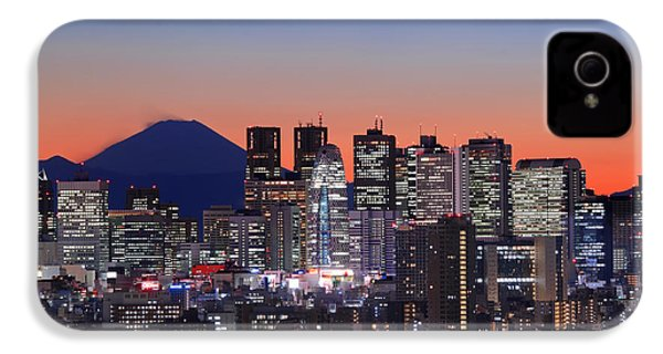 Iconic Mt Fuji With Shinjuku Skyscrapers IPhone 4 / 4s Case by Duane Walker