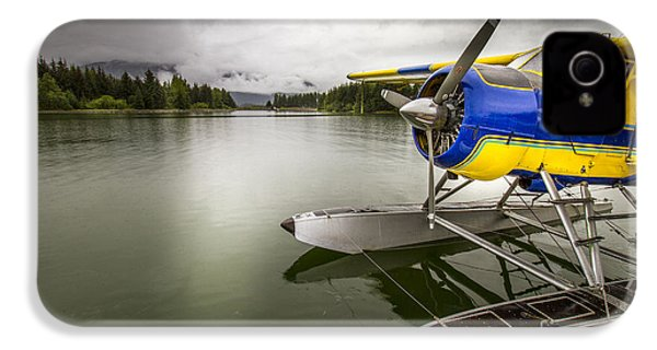 Idle Float Plane At Juneau Airport IPhone 4 / 4s Case by Darcy Michaelchuk