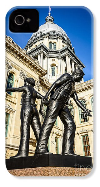 Illinois Police Officers Memorial In Springfield IPhone 4 / 4s Case by Paul Velgos