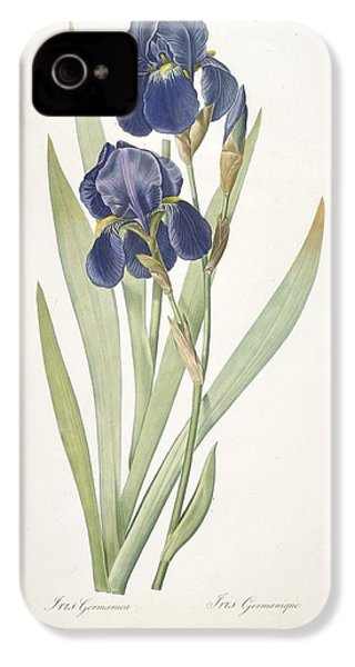 Iris Germanica Bearded Iris IPhone 4 / 4s Case by Pierre Joseph Redoute