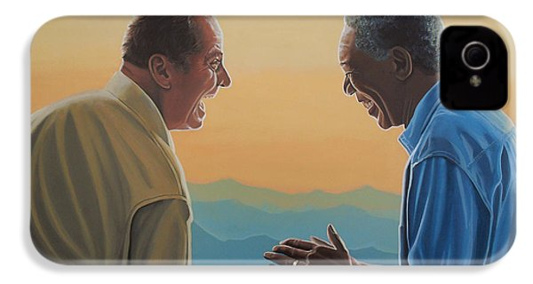 Jack Nicholson And Morgan Freeman IPhone 4 / 4s Case by Paul Meijering
