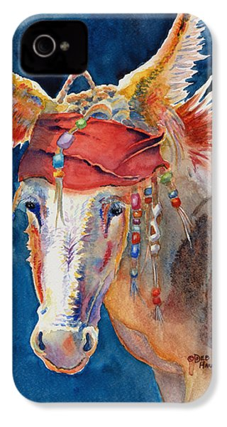 Jack Burro -  Donkey IPhone 4 / 4s Case by Deb  Harclerode