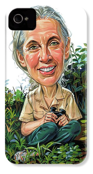 Jane Goodall IPhone 4 / 4s Case by Art