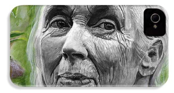 Jane Goodall IPhone 4 / 4s Case by Simon Kregar