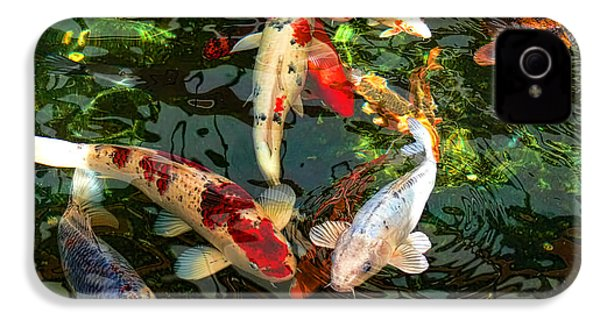 Japanese Koi Fish Pond IPhone 4 / 4s Case by Jennie Marie Schell