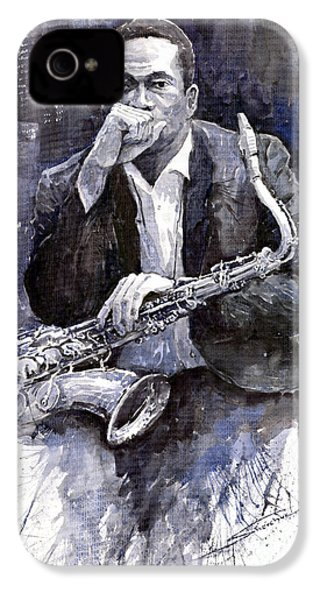 Jazz Saxophonist John Coltrane Black IPhone 4 / 4s Case by Yuriy  Shevchuk