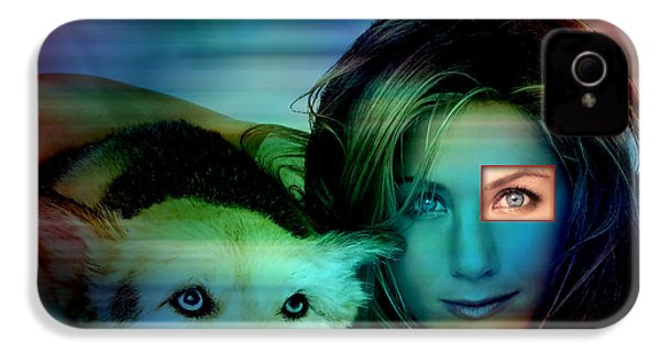 Jennifer Aniston And Dog  IPhone 4 / 4s Case by Marvin Blaine