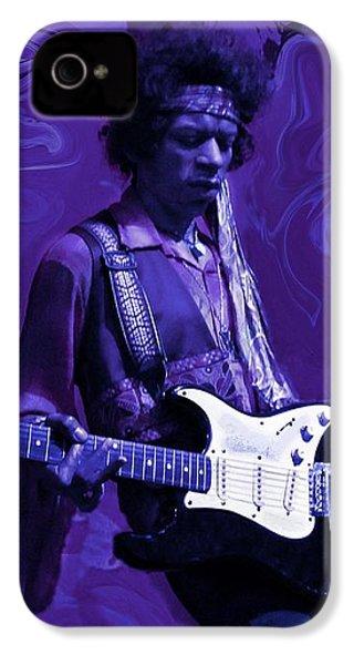 Jimi Hendrix Purple Haze IPhone 4 / 4s Case by David Dehner