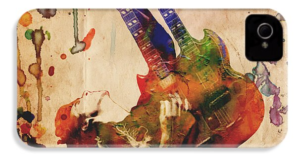 Jimmy Page - Led Zeppelin IPhone 4 / 4s Case by Ryan Rock Artist