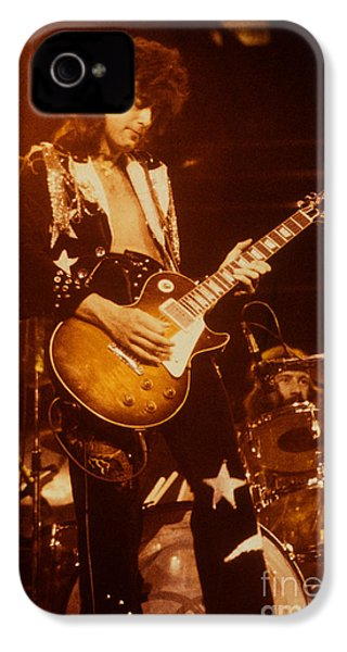 Jimmy Page 1975 IPhone 4 / 4s Case by David Plastik
