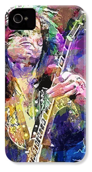Jimmy Page Electric IPhone 4 / 4s Case by David Lloyd Glover