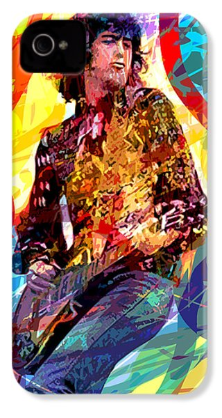 Jimmy Page Leds Lead IPhone 4 / 4s Case by David Lloyd Glover