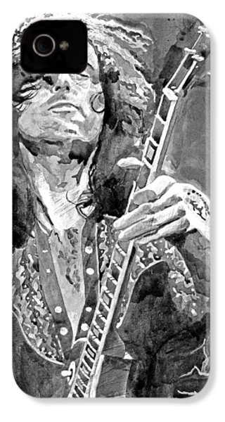 Jimmy Page Mono IPhone 4 / 4s Case by David Lloyd Glover