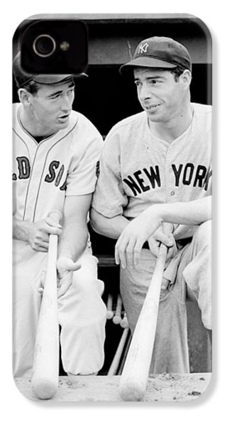 Joe Dimaggio And Ted Williams IPhone 4 / 4s Case by Gianfranco Weiss