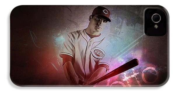 Joey Votto IPhone 4 / 4s Case by Marvin Blaine
