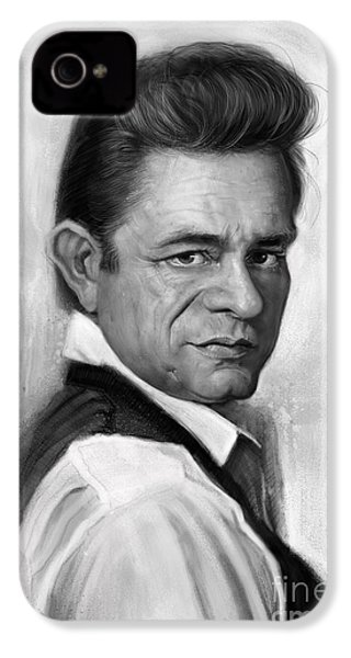 Johnny Cash IPhone 4 / 4s Case by Andre Koekemoer
