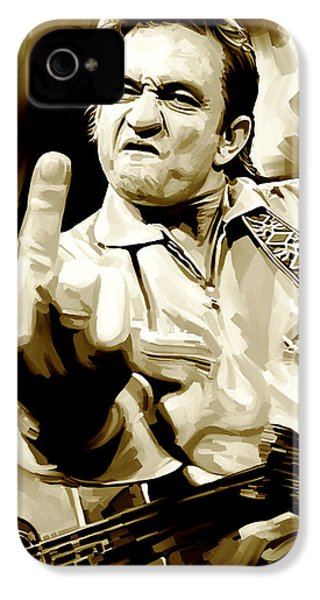Johnny Cash Artwork 2 IPhone 4 / 4s Case by Sheraz A