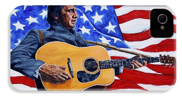 Johnny Cash IPhone 4 / 4s Case by John Lautermilch