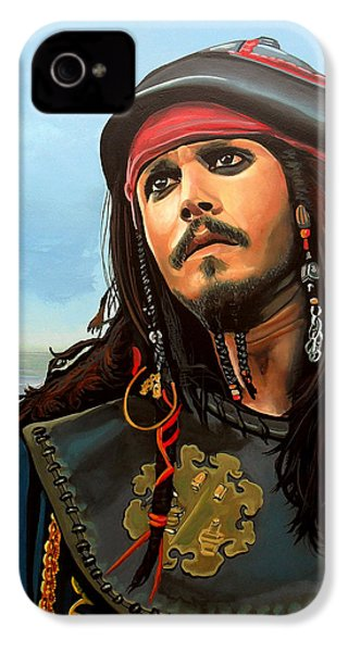 Johnny Depp As Jack Sparrow IPhone 4 / 4s Case by Paul Meijering