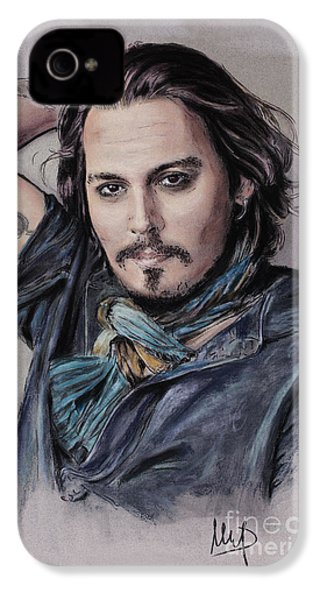 Johnny Depp IPhone 4 / 4s Case by Melanie D