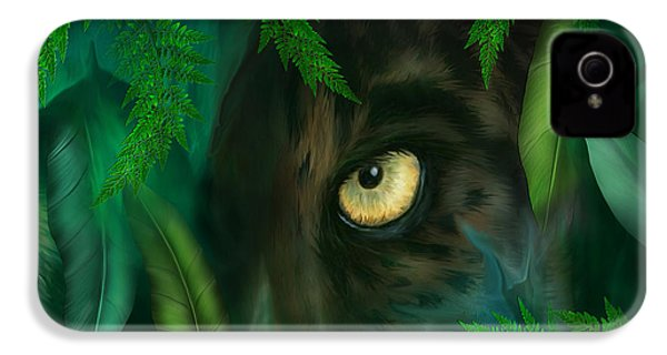 Jungle Eyes - Panther IPhone 4 / 4s Case by Carol Cavalaris