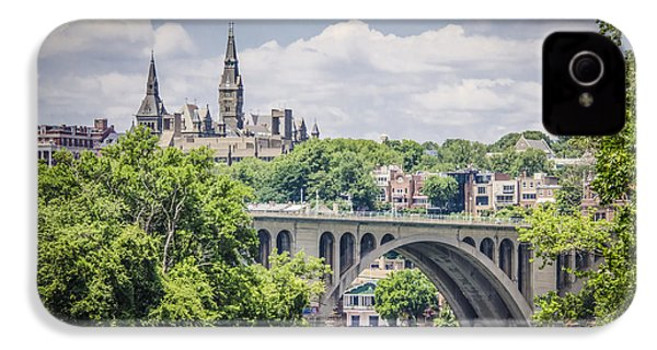 Key Bridge And Georgetown University IPhone 4 / 4s Case by Bradley Clay