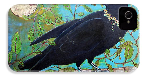 King Crow IPhone 4 / 4s Case by Blenda Studio