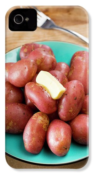 King Edward Potatoes On A Plate IPhone 4 / 4s Case by Aberration Films Ltd