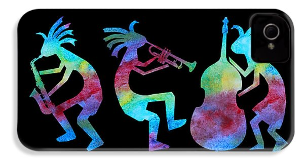 Kokopelli Jazz Trio IPhone 4 / 4s Case by Jenny Armitage
