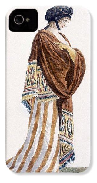 Ladies Dress With Velvet Shawl IPhone 4 / 4s Case by Pierre de La Mesangere